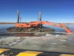 水上挖掘机-水上挖掘机施工