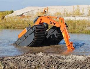 水上挖掘机配件生产