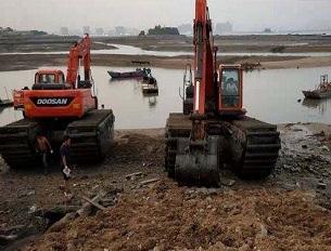 水挖机施工